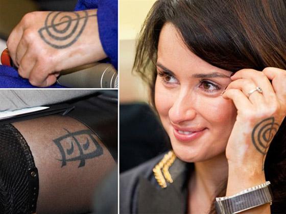 Татуировка у тины канделаки на руке что