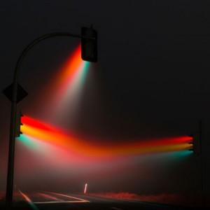 Свет светофора в тумане