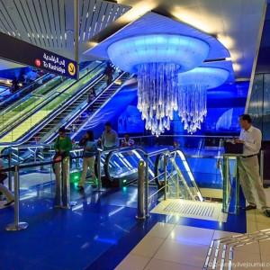 Дубайское метро. Фото