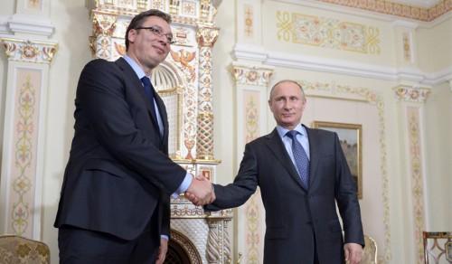 Президент РФ В.Путин встретился с премьер-министром Сербии А.Вучичем
