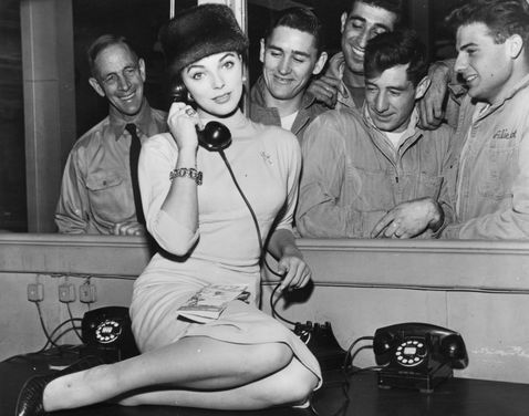 Joan Collins Phoning