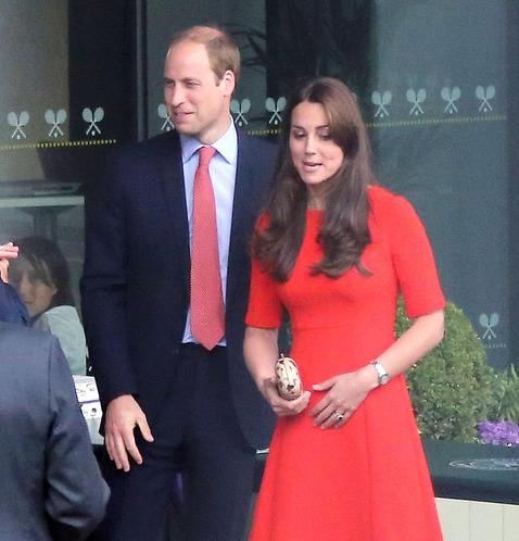 EXC: THE DUKE AND DUCHESS OF CAMBRIDGE AT WIMBLEDON
