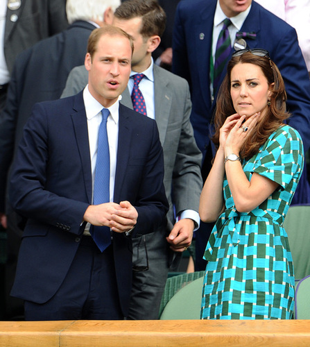 The Duke and Duchess of Cambridge watch the Wimbledon final