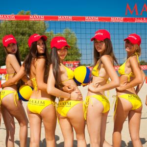 Чемпионат по пляжному волейболу среди моделей