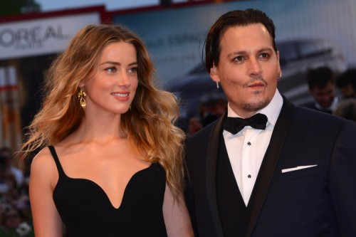 """Johnny Deep Amber Heard, Red Carpet for the movie """"Black Mass"""""""
