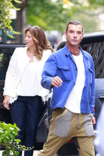 EXCLUSIVE: Gavin Rossdale seen with Mirka Federer outside the Carlyle hotel in New York City