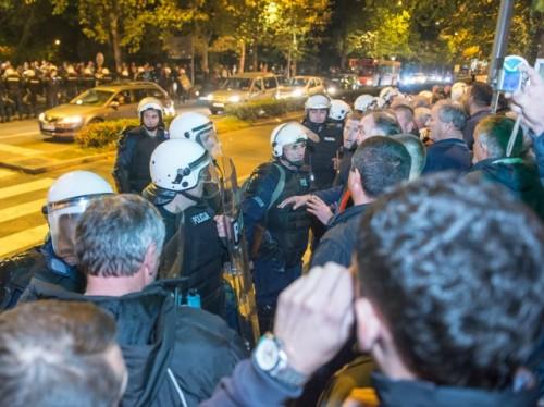 DF protest, Milos Vujovic 2