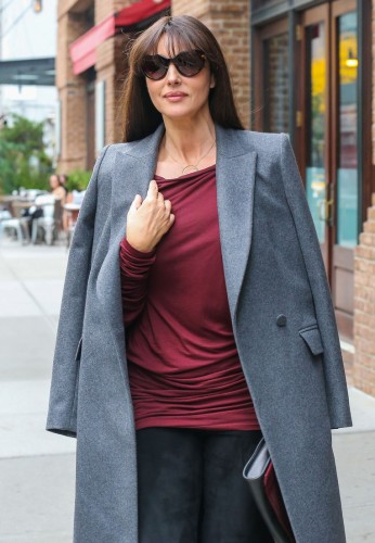 Monica Bellucci Leaving Her Hotel In NYC