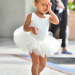 Kourtney Kardashian takes her pretty ballerinas North and Penelope to Dance Class in studio city