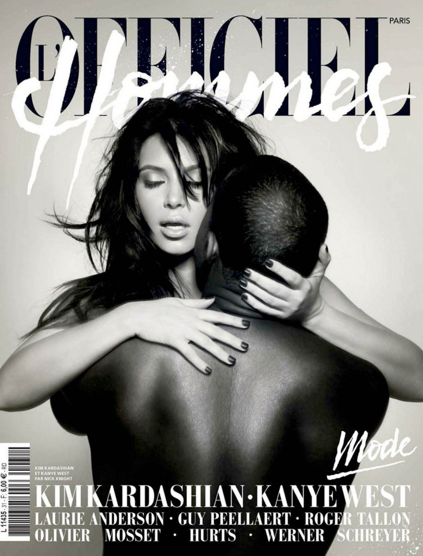 Kim Kardashian and Kanye West Pose Nude for LOfficiel Hommes